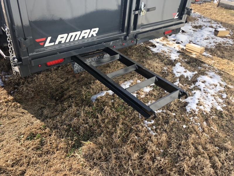 2020 LAMAR 83X16 GOOSENECK DUMP LOPRO TRAILER W/14 PLY TIRES