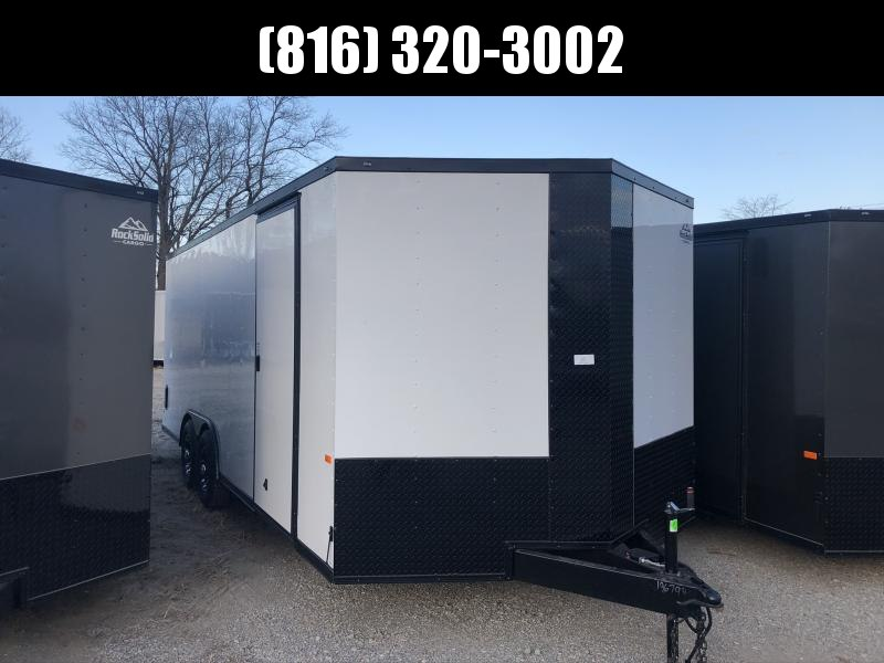 2020 ROCK SOLID 8.5 X 20 X 6.5 ENCLOSED CARGO TRAILER WITH BLACK TRIM PACKAGE