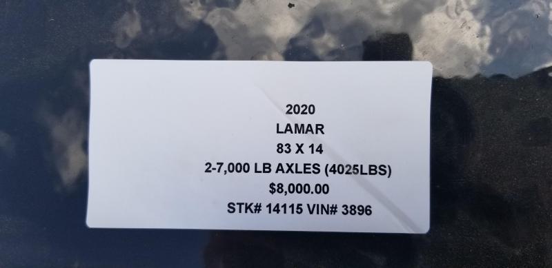 2019 LAMAR 83X14 DUMP LOPRO TRAILER