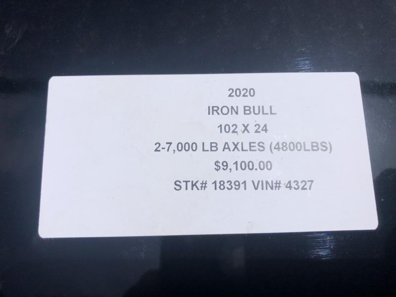 2020 IRON BULL 102 X 24 GOOSENECK TILT EQUIPMENT HAULER TRAILER