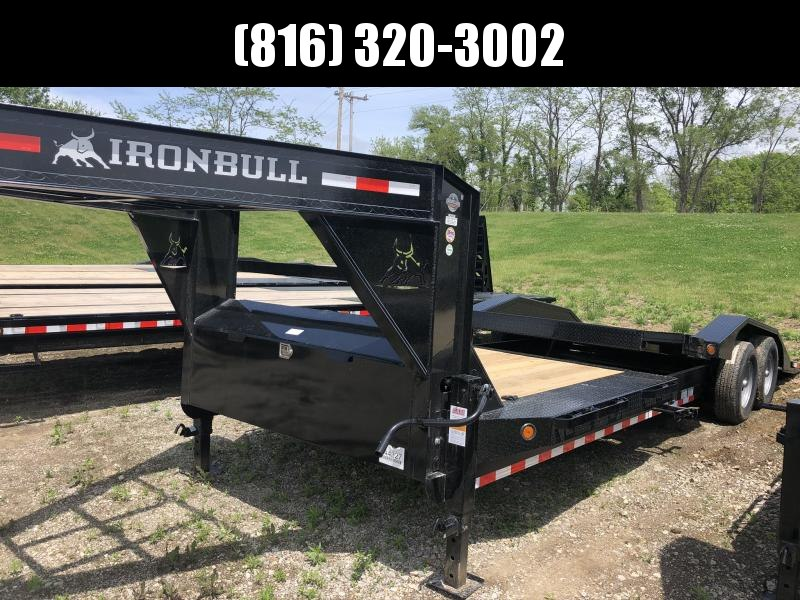 2020 IRON BULL 102 X 24 GOOSENECK TILT EQUIPMENT HAULER TRAILER