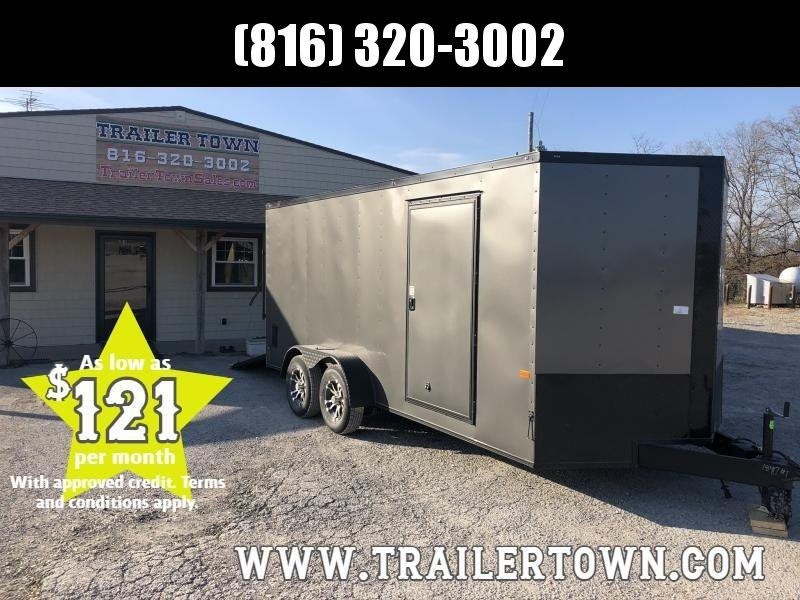 2020 ROCK SOLID 7 X 16 X 6 ENCLOSED CARGO TRAILER WITH BLACK TRIM PACKAGE