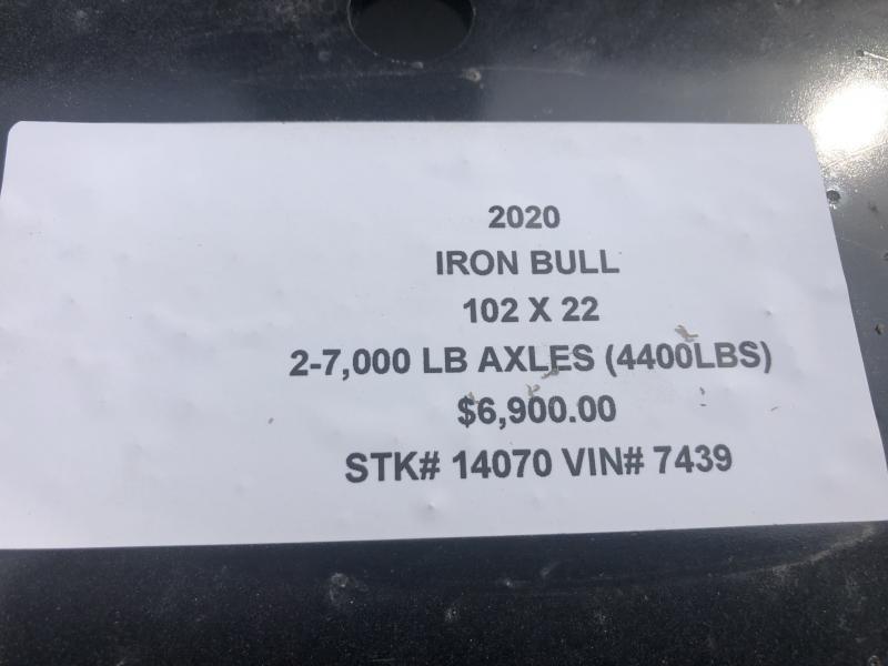 2020 IRON BULL 102X22 DECKOVER PINTLE EQUIPMENT HAULER TRAILER