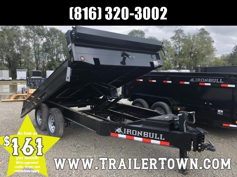 2019 IRON BULL 96X12 BUMPER DUMP DECKOVER TRAILER !!END OF SEASON SALE!!