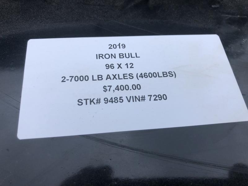2019 IRON BULL 96X12 BUMPER DUMP DECKOVER TRAILER !!END OF SEASON SALE!!