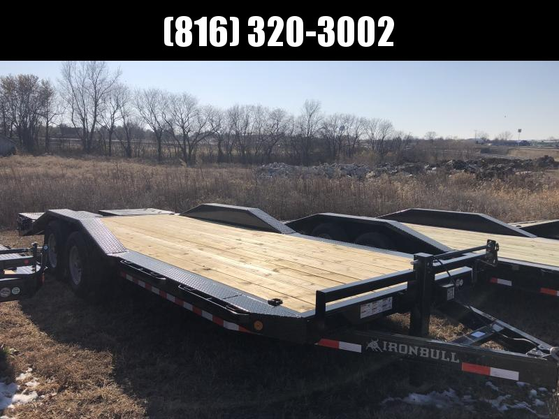 2020 IRON BULL 102 X 22 EQUIPMENT HAULER TRAILER WITH DRIVE OVER FENDERS