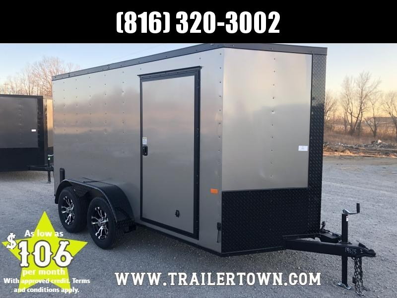 2020 ROCK SOLID 6 X 12 X 6 ENCLOSED CARGO TRAILER WITH BLACK TRIM PACKAGE