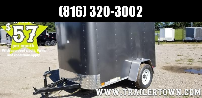 2020 UNITED 5 X 8 X 5.5 ENCLOSED CARGO TRAILER