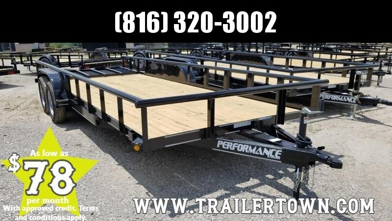 "2019 PERFORMANCE 83"" X 20 UTILITY TRAILER"