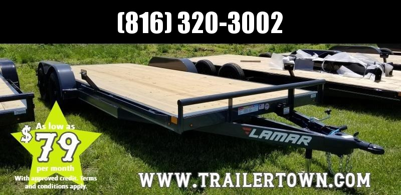 2019 LAMAR 83X20 EQUIPMENT HAULER TRAILER