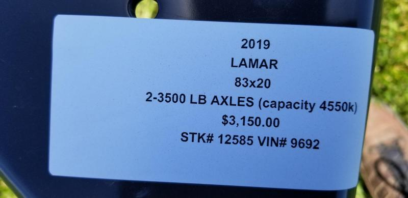 2019 LAMAR 83X20 EQUIPMENT HAULER TRAILER