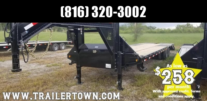 2020 IRON BULL 102x34 GOOSENECK DECKOVER LOPRO EQUIPMENT HAULER TRAILER