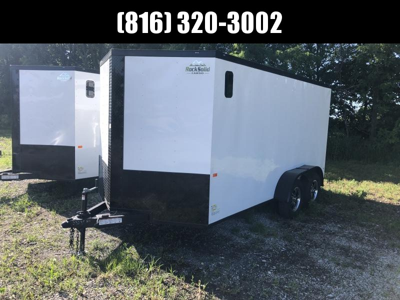 """2020 ROCK SOLID 7 X 14 X 6'3"""" ENCLOSED CARGO TRAILER WITH BLACK TRIM PACKAGE"""