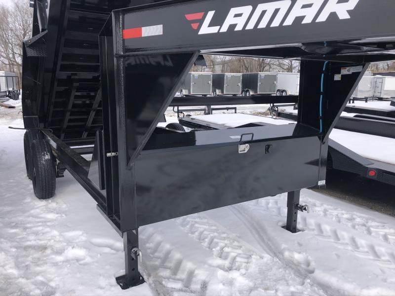 2020 LAMAR 83X14 GOOSENECK DUMP LOPRO TRAILER