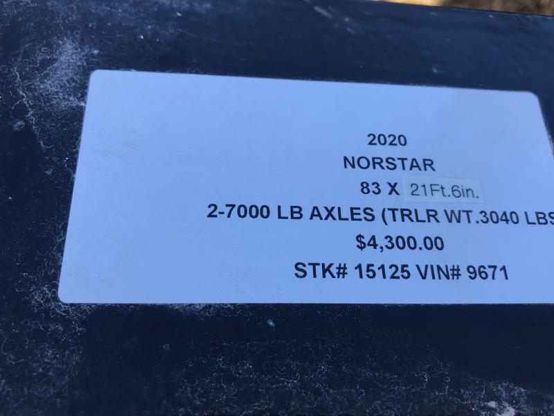 2020 IRON BULL 83X21.5 EQUIPMENT HAULER TRAILER WITH HEAVY DUTY I-BEAM FRAME