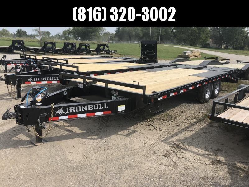 2020 IRON BULL 102X22 DECKOVER PINTLE EQUIPMENT HAULER TRAILER