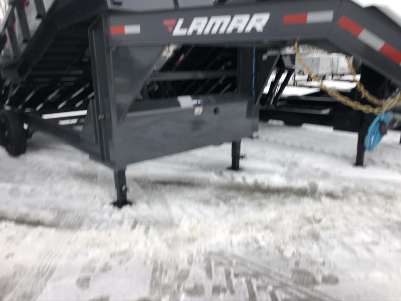 2020 LAMAR 83X16 GOOSENECK DUMP LOPRO TRAILER