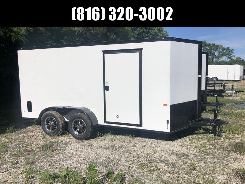 2020 ROCK SOLID 7 X 14 X 6'3 ENCLOSED CARGO TRAILER WITH BLACK TRIM PACKAGE