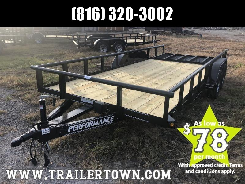 2020 PERFORMANCE 83 x 18 UTILITY TRAILER