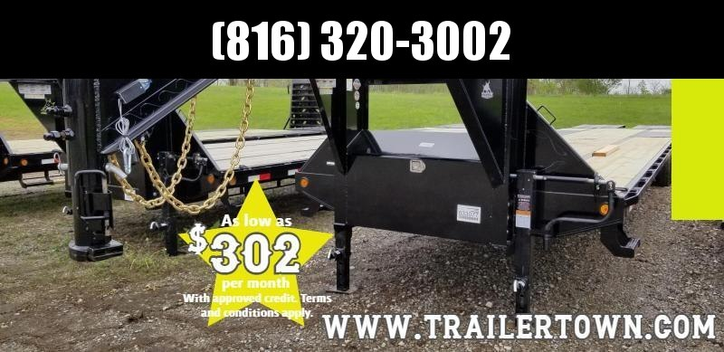 2019 IRON BULL 102X40 GOOSENECK LOPRO DECKOVER FLAT BED TRAILER WITH 12K AXLES