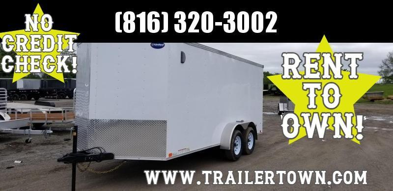 2020 UNITED 7 X 16 X 6 ENCLOSED CARGO TRAILER W/SLANT NOSE