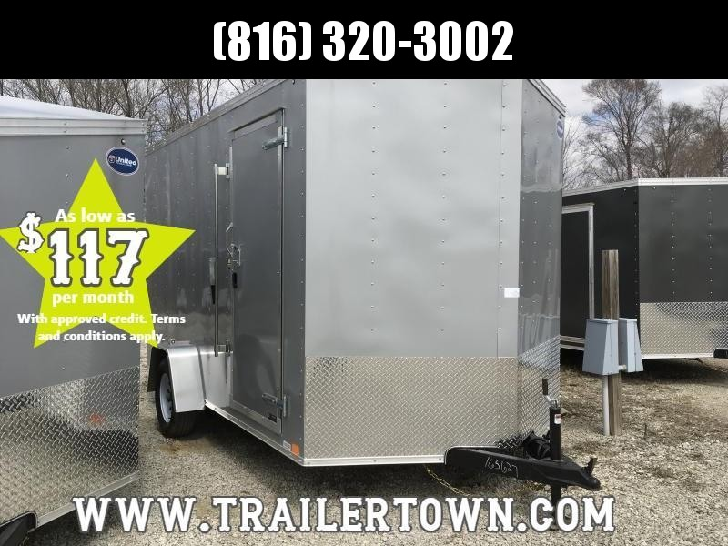 2019 UNITED 7 X 12 X 7 ENCLOSED CARGO TRAILER