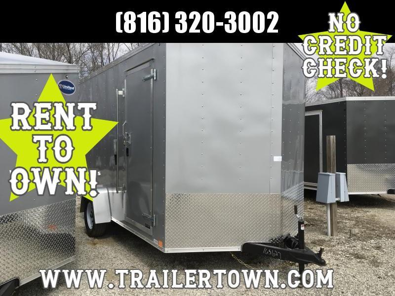 2019 UNITED 7 X 12 X 7 ENCLOSED CARGO TRAILER - PRICE REDUCED!!