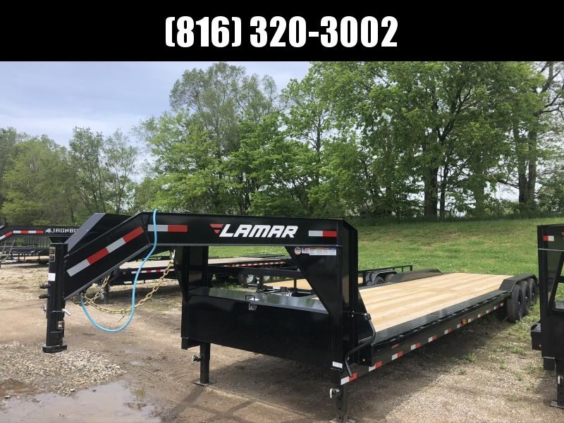 2020 LAMAR 102 X 38 GOOSENECK TRIPLE AXLE EQUIPMENT HAULER TRAILER W/DRIVE OVER FENDERS