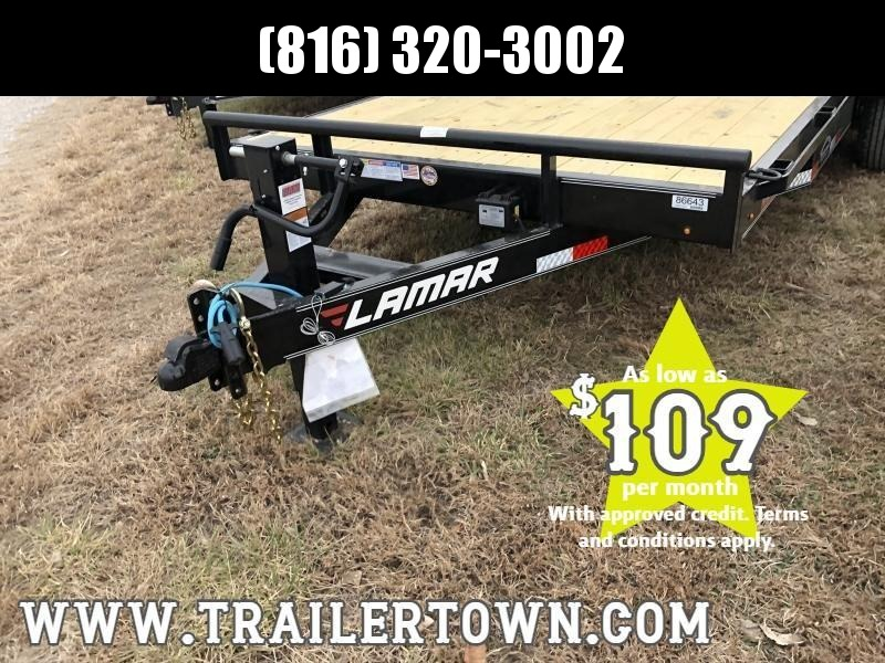 2020 LAMAR 83X18 EQUIPMENT TRAILER W/7K AXLES