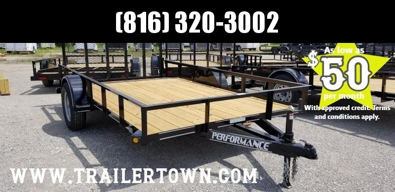 2019 PERFORMANCE 83 x 12 UTILITY TRAILER WITH 2' DOVE TAIL
