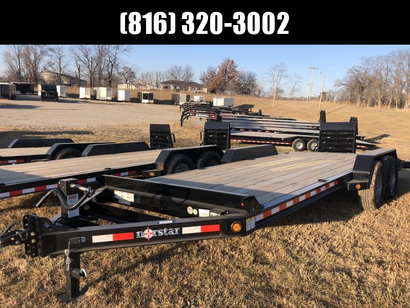 2020 IRON BULL 83X21.5 EQUIPMENT HAULER TRAILER WITH HEAVY DUTY I-BEAM FRAME