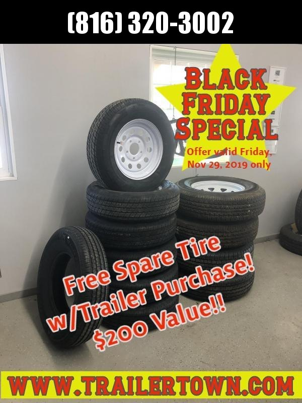 2019 Black Friday Free Spare Tire w/ Trailer Purchase - $200 Value!!