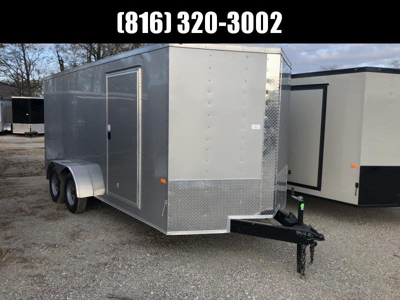 2020 ROCK SOLID 7 X 16 X 6 ENCLOSED CARGO TRAILER