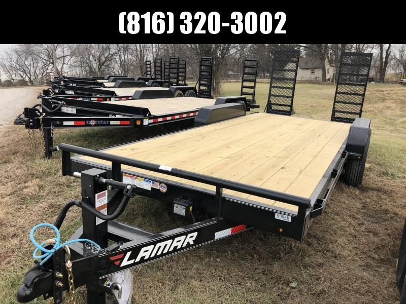 2020 LAMAR 83X20 EQUIPMENT HAULER TRAILER