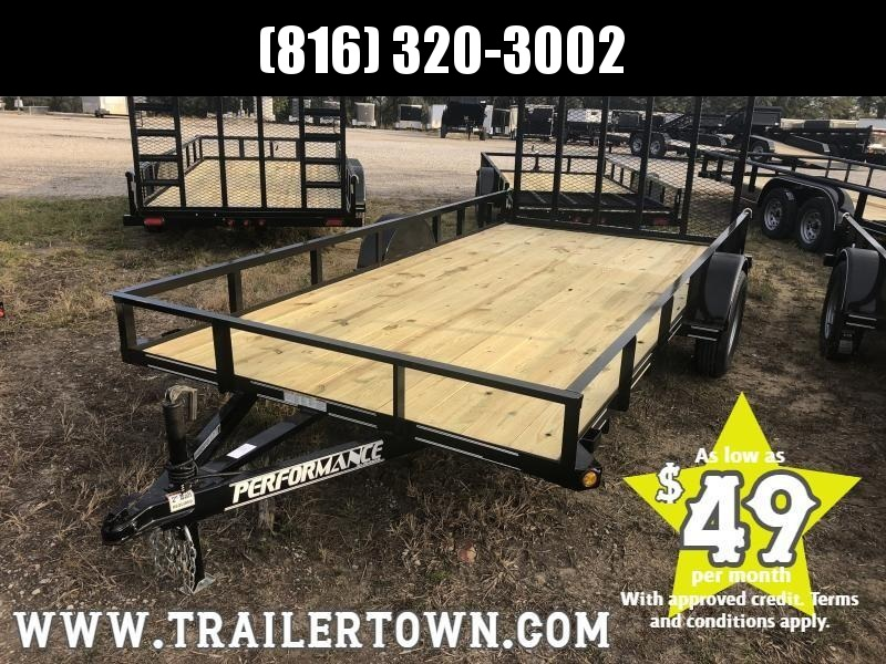 2020 PERFORMANCE 83 x 14 UTILITY TRAILER