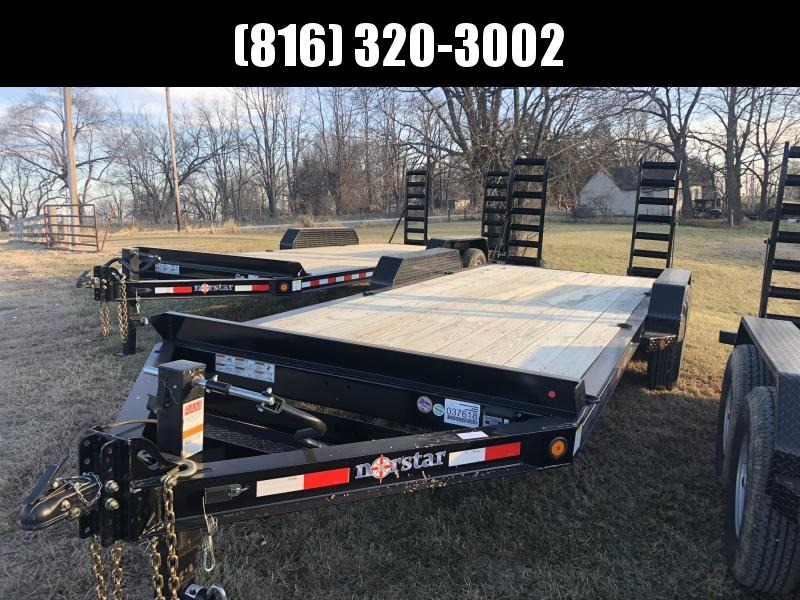 2020 IRON BULL 83X20 EQUIPMENT HAULER TRAILER WITH HEAVY DUTY I-BEAM FRAME