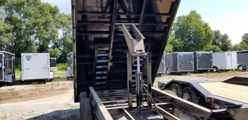 2019 IRON BULL 96X14 BUMPER DUMP DECKOVER TRAILER