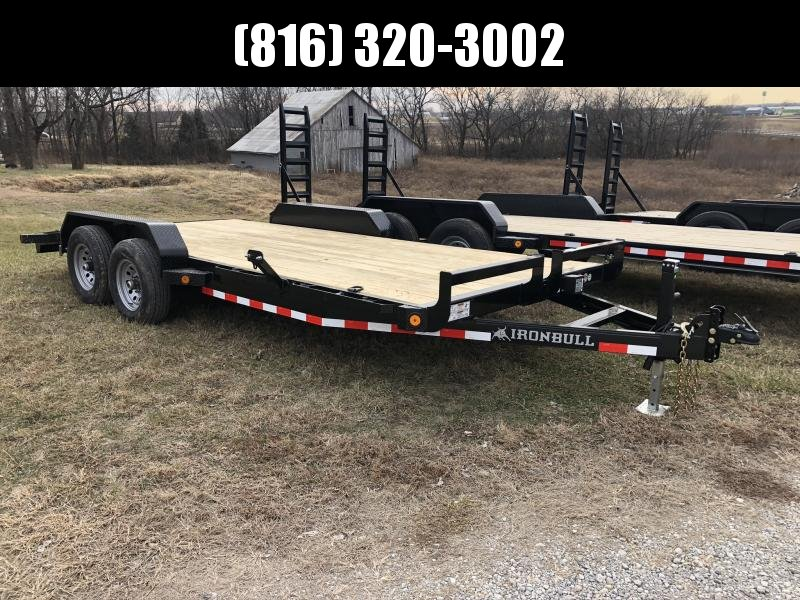 2020 IRON BULL 83X18 EQUIPMENT HAULER TRAILER