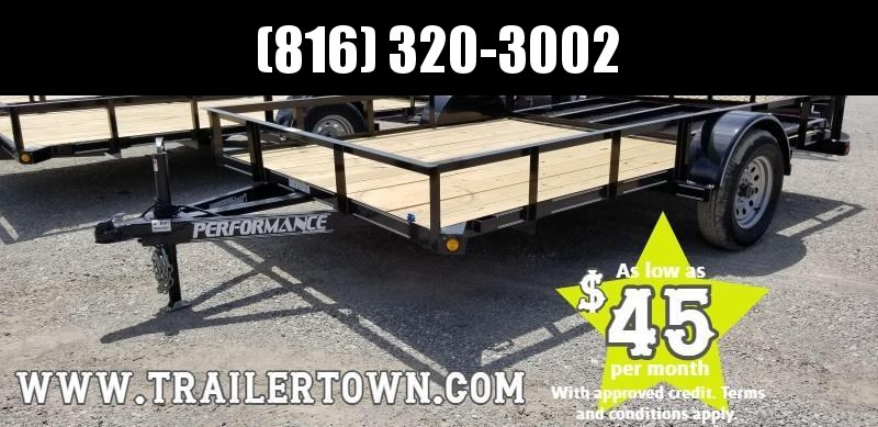 2019 PERFORMANCE 83 x 12 UTILITY TRAILER