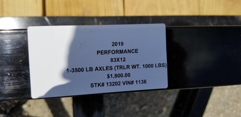 2019 PERFORMANCE 83 x 12 UTILITY TRAILER