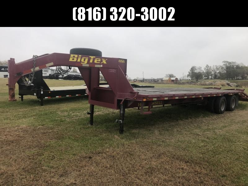 2002 BIG TEX 102x30 GOOSENECK DECK OVER EQUIPMENT HAULER TRAILER