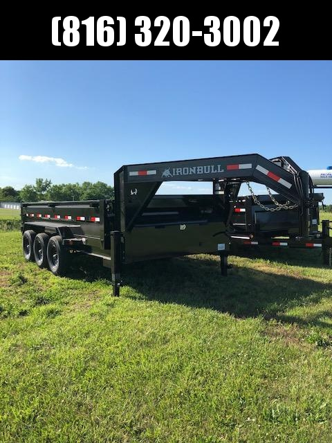 2020 IRON BULL 83X16 GOOSENECK TRIPLE AXLE DUMP TRAILER