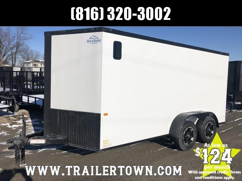 2020 ROCK SOLID 7 X 14 X 6 ENCLOSED CARGO TRAILER WITH BLACK TRIM PACKAGE