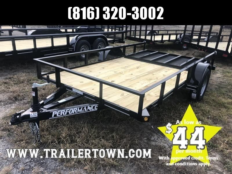 2020 PERFORMANCE 77 x 12 UTILITY TRAILER