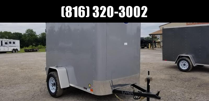 2019 UNITED 5 X 8 X 5.5 ENCLOSED CARGO TRAILER