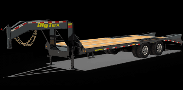 2020 Big Tex Trailers 22GN-28BK+5MR Equipment Trailer