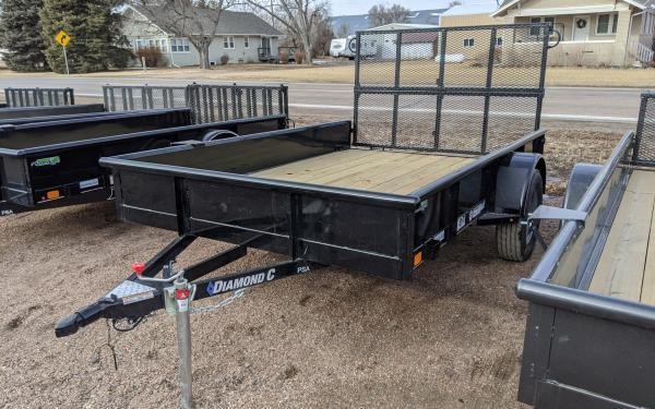 "2020 Diamond C 2PSA 77"" x 10' Utility Trailer w/ Bi-fold Ramp Gate"