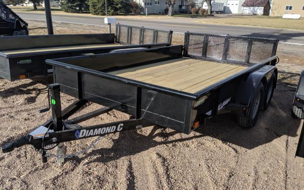 "2020 Diamond C GTU 83"" x 12' Utility Trailer"