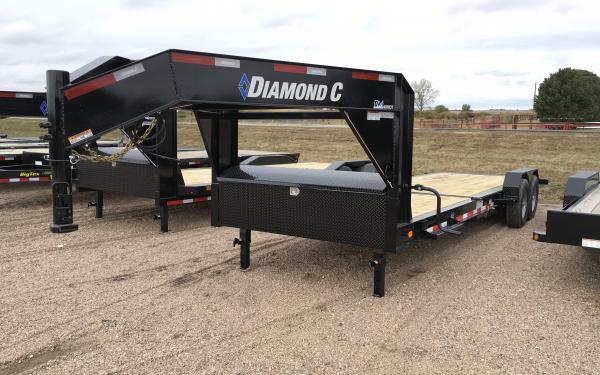 2020 Diamond C CHDT 25' Low Pro Gooseneck Tilt Equipment Trailer