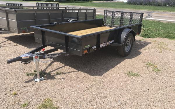 "2019 Diamond C 2PSA 60"" x 10' Utility Trailer w/ Bi-fold Ramp Gate"